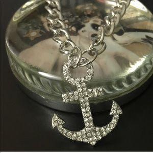 Jewelry - Nautical Anchor Rhinestone Bracelet